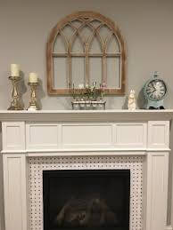 cathedral window frame in whitewash by