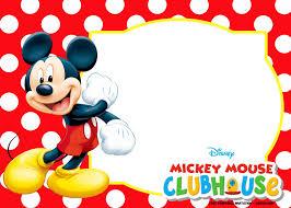 Mickey Mouse Polka Dot Invitation Templates Cumpleanos De Mickey