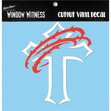 Dicksons Cross Crown Vinyl Decal White Vinyl Decals Vinyl For Cars Vinyl