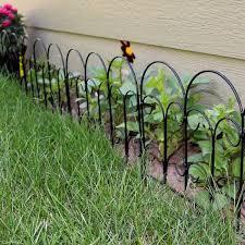 Sunnydaze Decor Victorian 18 In W X 16 In H Steel Wire Garden Fence 5 Pack Hmi 615 The Home Depot