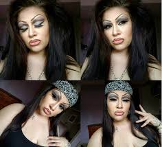 cute chola makeup step by step
