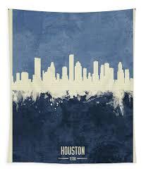 Houston Texas Skyline Tapestry For Sale By Michael Tompsett