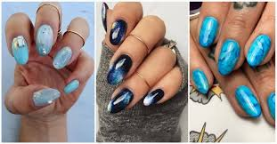 50 stunning blue nail designs for a