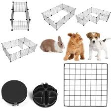Diy Pet Playpen Fence Enclosure Yard Kennel Dog Cage Pen Crate Kennel Hutch Bunny Cage Easy Install Storage Tool Houses Kennels Pens Aliexpress