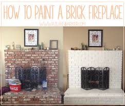 how to paint a brick fireplace aileen