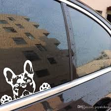 Creative Vinyl Car Sticker Paws Up French Bulldog Frenchie Bully Dog Decal Black Silver Stickers For Walls Art Stickers For Walls Decoration From Joystickers 8 15 Dhgate Com