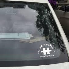Faith Hope Love Autism Awareness Puzzle Piece Vinyl Decals Sticker For Car Laptop Decor Car Stickers Aliexpress