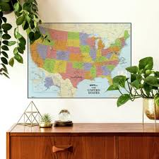 Dry Erase Us Map Peel And Stick Giant Wall Decal Roommates Decor