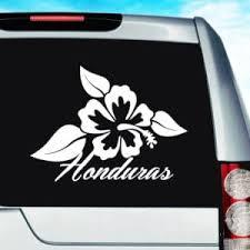 Honduras Tropical Hibiscus Flower Vinyl Car Window Decal Sticker