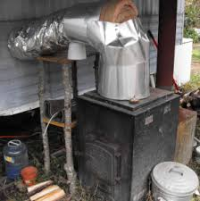 how to install an exterior wood furnace