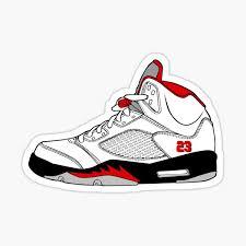 Jordan 5 Stickers Redbubble