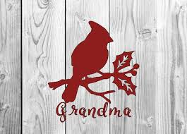 Cardinal Grandma Vinyl Decal Cup Decal Car Decal Yeti Etsy