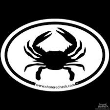 Shore Redneck Simple Crab Oval Decal Shoreredneck Com