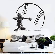 Vinyl Wall Decal Baseball Player Sports Pitcher Modern Home Decor Stic Wallstickers4you
