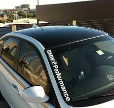 Front Side Windshield Banner Decal Vinyl Car Sticker For Bmw Window Diy Exterior 755170808016 Ebay Vinyl Car Stickers Diy Exterior Car Stickers