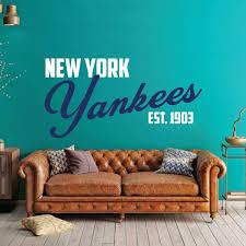 New York Yankees Yankee Wall Decal Baseball Decorations Customvinyldecor Com