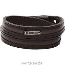 men s fossil leather bracelet