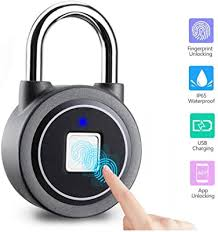 Fingerprint Padlock Safe Fingerprint Lock Smart Bluetooth Connection Keyless Biometric Metal Waterproof Suitable For Door Suitcase Backpack Office Gym Sports Bike School Fence And Storage Amazon Com