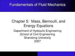 ppt chapter 5 mass bernoulli and