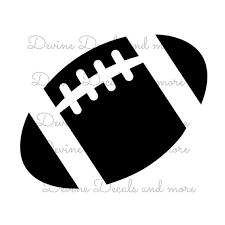 Football Vinyl Decal Etsy