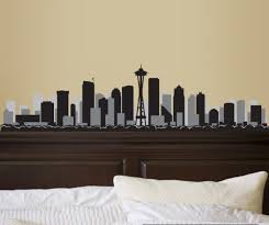 Seattle Washington Skyline Vinyl Wall Decal Or Car Sticker Ss096ey Contemporary Wall Decals By Vinyl Disorder Inc