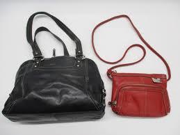2pc tignanello leather shoulder bags