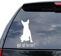 Amazon Com Got Rat Terrier Dog Pet Decal Sticker Car Truck Motorcycle Window Ipad Laptop Wall Decor Size 09 Inch 23 Cm Tall Color Matte Black Home Kitchen