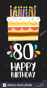 Feliz Cumpleanos Numero 80 La Operacion De Tarjetas De