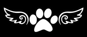Angel Paw Dog Angel Wings Paws Sticker Vinyl Decal Car Window Bumper Laptop Ebay