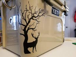 Yeti Roadie 20 Deer Decals Crooked Cuts Vinyl