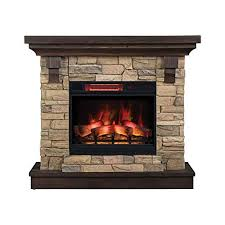 electric fireplace with mantle com