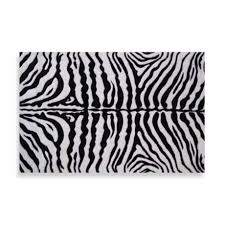 Fun Rugs Zebra Skin 5 Foot 3 Inch X 7 Foot 6 Inch Rug In White Black Bed Bath Beyond