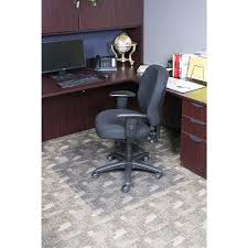 clear office chair mat with lip for