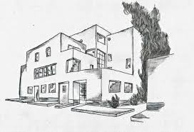 maison moderne méditéranenne drawing by