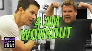 james joins mark wahlberg s 4am workout