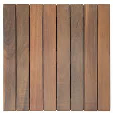 Yard & Home Ipe Tropical Hardwood Deck Tiles, 30-pack Ipe Tropical ...