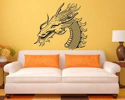 Chinese Dragon Vinyl Decal Monster Wall Sticker Asian Home Etsy