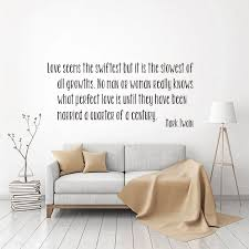 Sticker Love Vinyl Wall Decal Mark Twain Quote Mural Art Wallpaper Living Room Home Decor Poster House Decoration 26 Cm X 58 Cm Wall Stickers Aliexpress