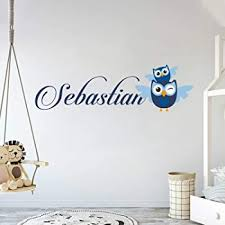 Amazon Com Personalized Name Owl Animal Series Baby Girl Wall Decal Nursery For Home Bedroom Children 781 Wide 22 X 6 Height Baby