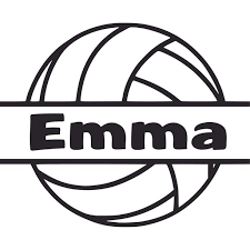 Volleyball Sports Ball Player Athelete Customized Wall Decal Custom Vinyl Wall Art Personalized Name Baby Girls