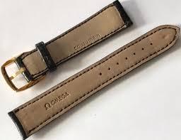 omega 18mm black leather strap amp