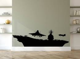 Us Navy Wall Decal Aircraft Carrier Decal American Fighter Etsy