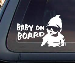Baby On Board Carlos Hangover Funny Car Decal Sticker White Jean R Andersonert