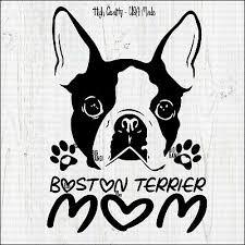 Boston Terrier Ipad Vinyl Car Window Decals Sticker Love My White Rescue Dog Mom