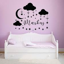 Nursery Wall Decal With Personalized Name
