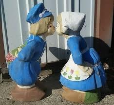 dutch boy girl yard garden art decor