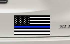 Thin Blue Line Flag Decal Vinyl Cut Car Decal Back The Blue Support Law Enforcment Usa Flag Free Personalizing Joyfully Made Market