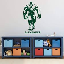 Amazon Com Custom Name Incredible Hulk Wall Decal For Boy S Bedroom Playroom Personalized Superhero Silhouette Vinyl Decor Sticker Kids Birthday Party Decorations Small Large Sizes Handmade