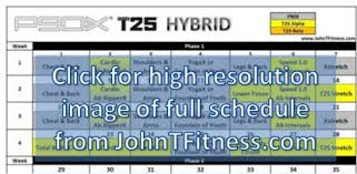 p90x t25 hybrid schedule john t fitness