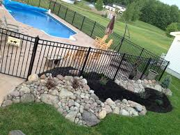 Pin By Violet Martin On Around Our Home Pool Landscape Design Inground Pool Landscaping Pool Landscaping